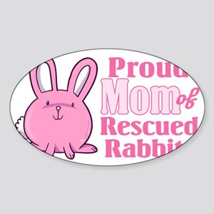 CA_036_v01_proudmomrabbit Sticker (Oval)