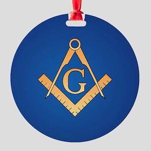 Masonic Square and Compass Round Ornament