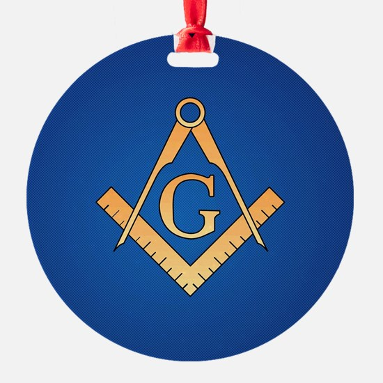 Masonic Square and Compass Ornament