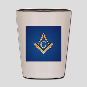 Masonic Square and Compass Shot Glass