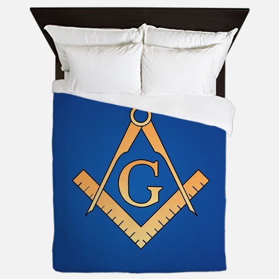 Masonic Square and Compass Queen Duvet