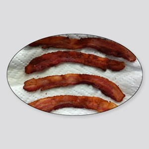 baconphoto-horiz Sticker (Oval)