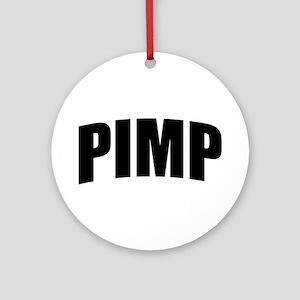 Pimp Bold Black Ornament (Round)