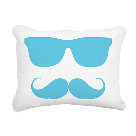 moustache Rectangular Canvas Pillow