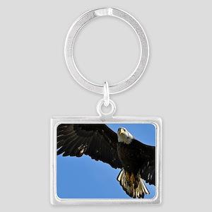 Majestic Bald Eagle Landscape Keychain