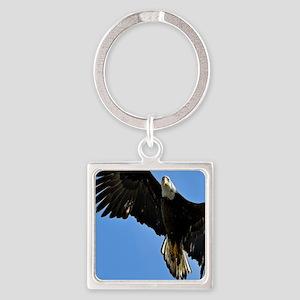 Majestic Bald Eagle Square Keychain