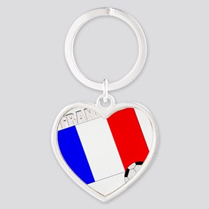 french soccer team drk Heart Keychain