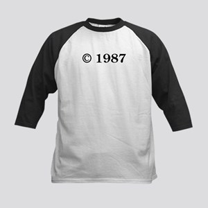 Copyright 1987 Kids Baseball Jersey