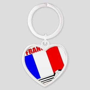 french soccer team Heart Keychain
