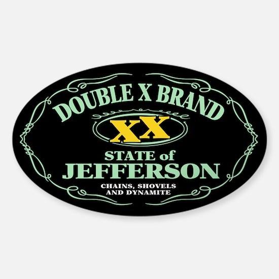 XX Brand Sticker (Oval)
