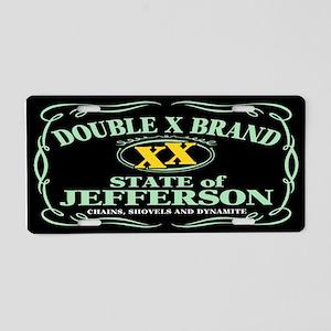 XX Brand Aluminum License Plate