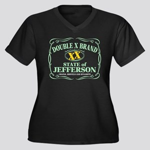 XX Brand Women's Plus Size V-Neck Dark T-Shirt