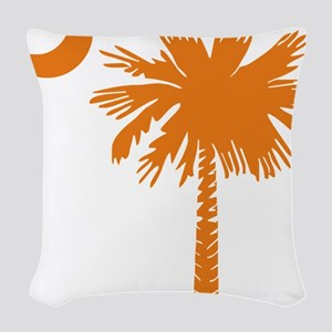 SC Palmetto  Crescent (2) oran Woven Throw Pillow