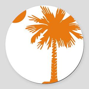 SC Palmetto  Crescent (2) orange Round Car Magnet