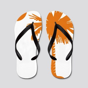 SC Palmetto  Crescent (2) orange Flip Flops