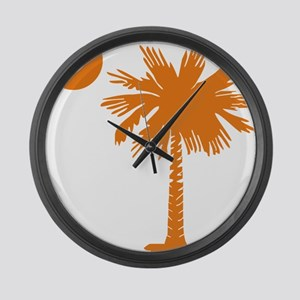 SC Palmetto  Crescent (2) orange Large Wall Clock
