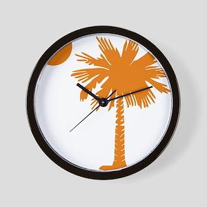 SC Palmetto  Crescent (2) orange Wall Clock