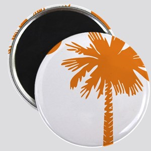 SC Palmetto  Crescent (2) orange Magnet