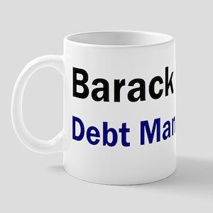 Anti Obama Debt man walking Mug