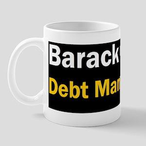 Anti Obama Debt man walkingdbump Mug