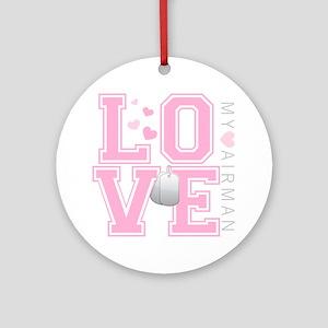 lovemyairman Round Ornament