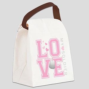 lovemysoldier Canvas Lunch Bag