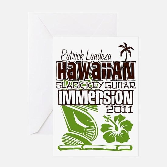Hawaiian Slack Key Immersion 2011 Greeting Card