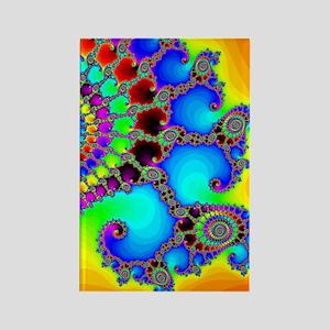 Colorful Coastline Rectangle Magnet