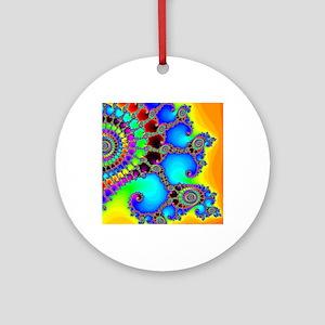 Colorful Coastline Round Ornament