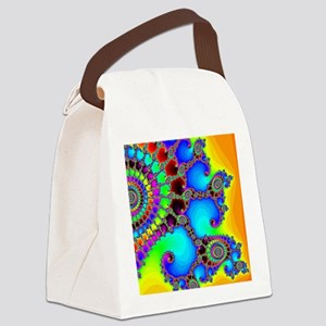 Colorful Coastline Canvas Lunch Bag