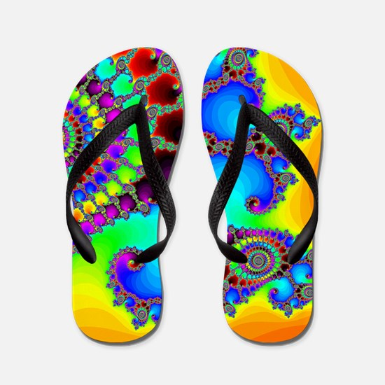 Colorful Coastline Flip Flops