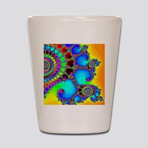 Colorful Coastline Shot Glass