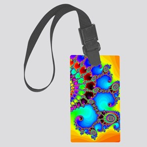 Colorful Coastline Large Luggage Tag