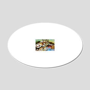 mainmarellspond 20x12 Oval Wall Decal