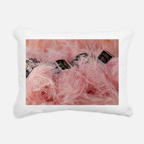 YarnpinkFuzzy_laptop Rectangular Canvas Pillow
