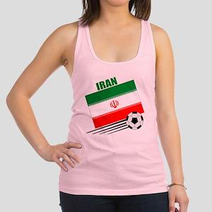Iran soccer  ball lt Racerback Tank Top