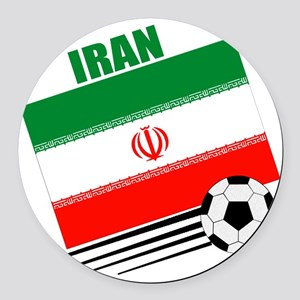 Iran soccer  ball lt Round Car Magnet