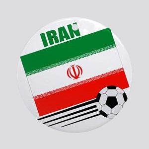 Iran soccer  ball lt Round Ornament