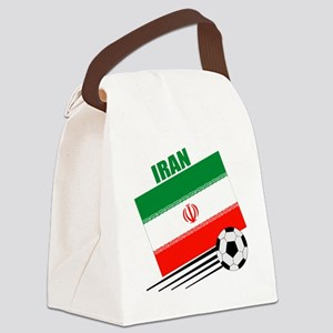 Iran soccer  ball lt Canvas Lunch Bag