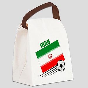 Iran soccer  ball lt Canvas Lunch Bag