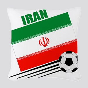 Iran soccer  ball lt Woven Throw Pillow
