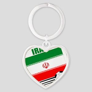 Iran soccer  ball lt Heart Keychain