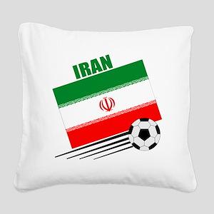 Iran soccer  ball lt Square Canvas Pillow