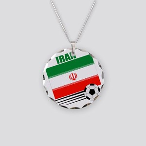 Iran soccer  ball lt Necklace Circle Charm