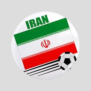 """Iran soccer  ball lt 3.5"""" Button"""