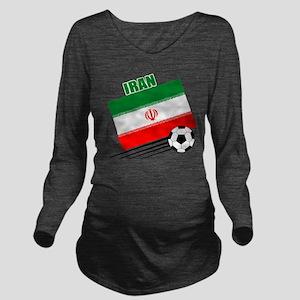 Iran soccer  ball lt Long Sleeve Maternity T-Shirt