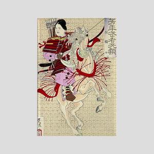 Yoshitoshi-Tsukioka-Female-Warrio Rectangle Magnet