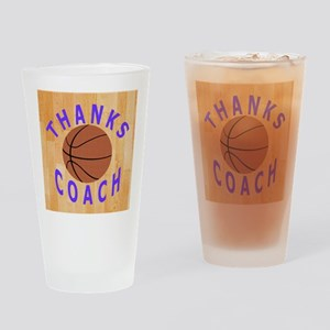 Thanks Basketball Coach Unique Gift Drinking Glass
