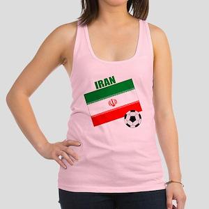 Iran soccer  ball drk Racerback Tank Top