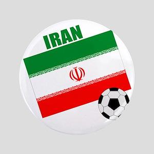 """Iran soccer  ball drk 3.5"""" Button"""